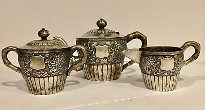 Chinese Export Silver Tea Set Antique