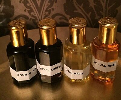 GOLDEN DUST-ROOH AL MISK-ROYAL AMBER-OUDH MALIKI 12ML HiGH QUALITY NEW