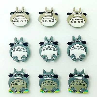 9pcs Totoro Cute Cartoon Shoes Charms Fit for Jibbitz Clog Wristbands kid's Gift