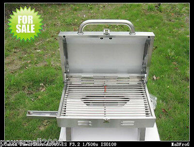 New Outdoor Stainless Steel Gas Vehicle Household Portable Barbecue Grill BBQ