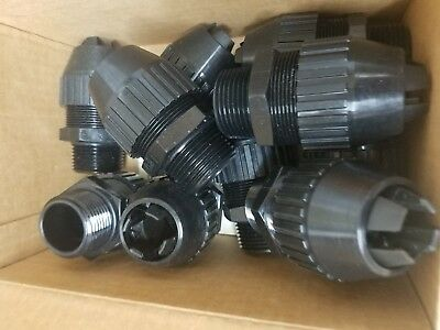 """Lot of 10 T&B 1"""" Strain Relief Connector Sraight"""