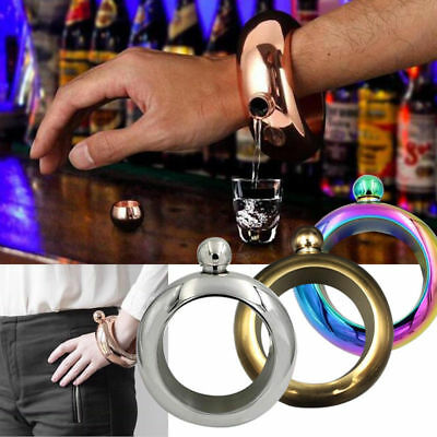 Booze Smuggle Bracelet Bangle Flask Alcohol Liquor Whisky Hip Festival Jewelry