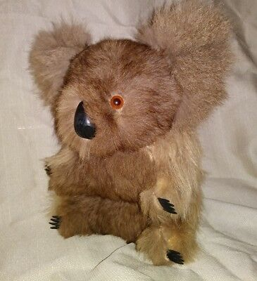 REAL FUR Vintage KOALA bear hard body 9""