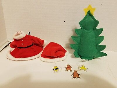 Madeline doll Christmas outfit with tree