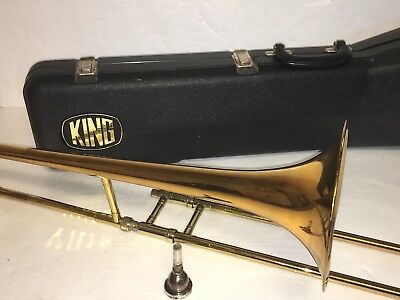 King Tempo 606 Trombone In Mint Condition W/ OHSC & 12C Mouthpiece Awesome!