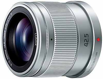 New Panasonic LUMIX G 42.5mm/F1.7 ASPH./POWER H-HS043-S Silver lens