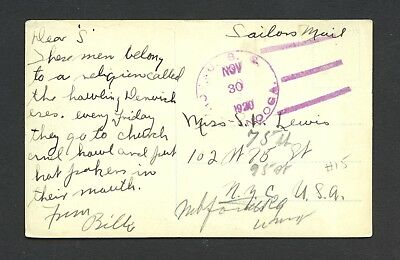"""Uss Chattanooga C-16 - Ppc-Whirling Dervishes - """"sailor's Mail"""" - Classic Cancel"""