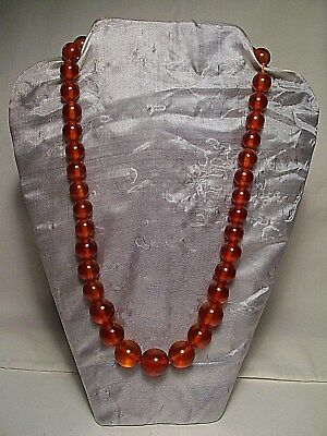 Baltic Amber Necklace ~ Round Golden Beads ~ #13 ~ Very Nice !!