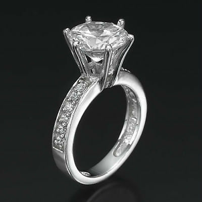 Anniversary Round Diamond Ring 2.56 Ct Vs1 14 Kt White Gold Flawless Authentic