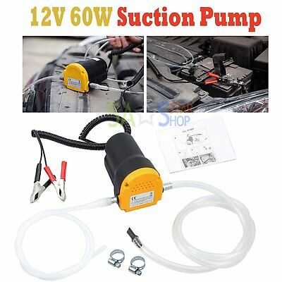12V 60W Oil Diesel Extractor Suction Pump Transfer Fluid Change Car Boat US TN