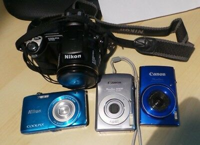 Lot Of 4 Non-Working Digital Cameras As Is