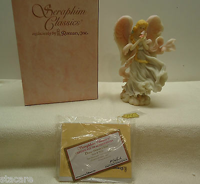Seraphim Classics DIANA Angel Figurine Box COA & gold tag HEAVEN'S ROSE 1997
