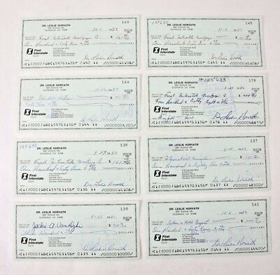 8 Les Horvath Signed Autograph Cancelled Check Heisman Ohio State Football