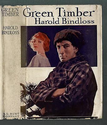 Classic Western Hardback - Green Timber by Harold Bindloss - with Dust Jacket VG