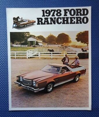 1978 Ford RANCHERO Luxury Pickup Truck Car Brochure - NOS Excellent Condition