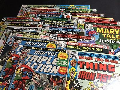 Lot Of 21 Bronze Age Marvel Comics (1972-1984, Marvel)