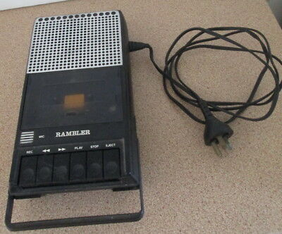 Rambler Japan C-200 Tape Cassette Recorder Vintage Classic With Power Cord