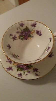 Paragon Cup And Saucer Violets