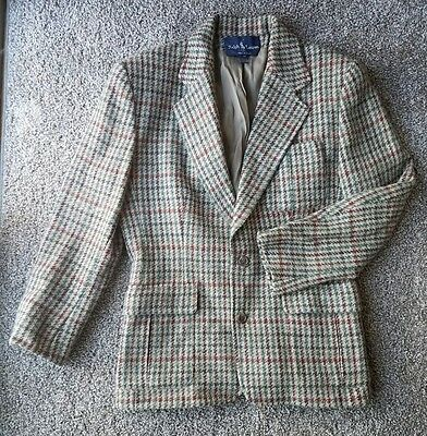 RALPH LAUREN VINTAGE Women Union Made ILGWA Multi-Color Wool Blazer SIZE 10
