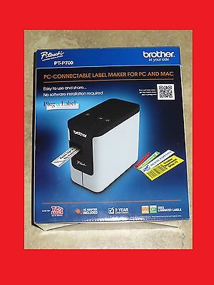 BRAND NEW Brother P-Touch PC Connectable Label Maker (PT-P700)