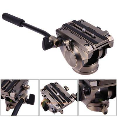Professional Tripod Fluid Head with Quick Release Sliding Plate for DSLR Camera