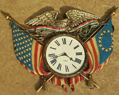 Vintage Patriotic Eagle Wall Clock