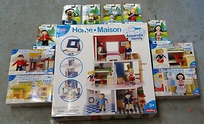 HUGE LOT OF 11 Pieces AMANDA & FAMILY Home 4x Furniture & 6x Doll Set NEW