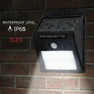 Original 20 LED SOLAR POWERED MOTION SENSOR FENCE WALL LIGHT OUTDOOR GARDEN LAMP