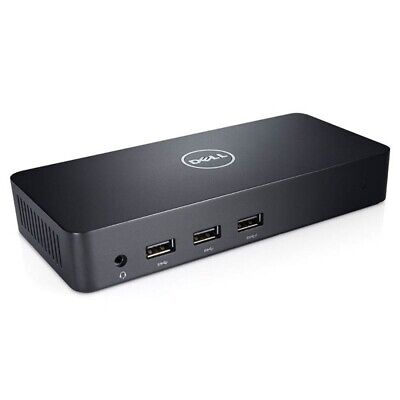 DELL D3100 USB UHD 4K DOCKING STATION, GbE(1), USB(5), HDMI(2), DP(1), 1YR WTY