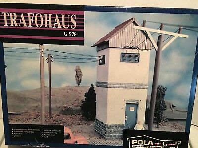 POLA LGB G Scale # G 978 TRAFOHAUS ELECTRIC BUILDING NEW OLD STOCK RARE FIND