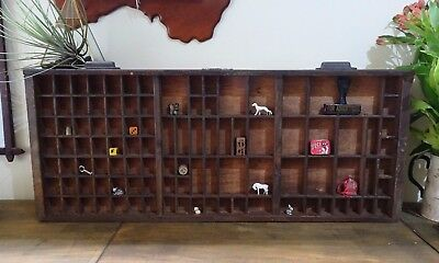 Vintage Wooden Printers Type / Letterpress Tray Drawer, Wall Shelf Shadow Box