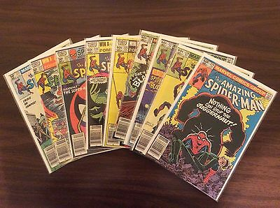 Lot (18) Marvel Comics, The Amazing Spider-Man #221 - #237 & #241, Bronze Age