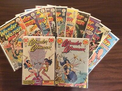 Lot (12) DC Comics, Wonder Woman #205, #206, #227 - #236, Bronze, High Grade
