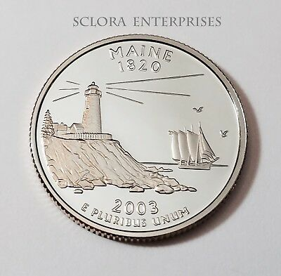 2003 S Maine  *90% Silver Proof*  State Quarter   **free Shipping**