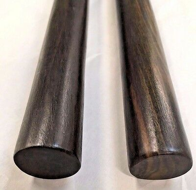 Arnis Kamagong Escrima Kali Ironwood Pair of Sticks and FREE Black Carrying Case