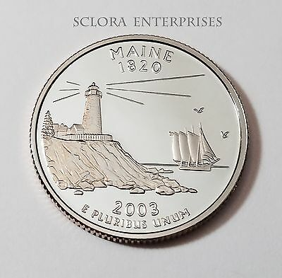 2003 S Maine *proof* State Quarter   **free Shipping**