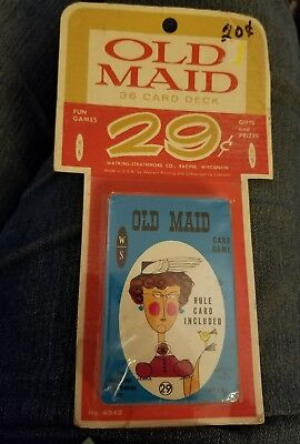 Vintage Watkins Strathmore/Whitman CARD GAME Old Maid on card New Never Open