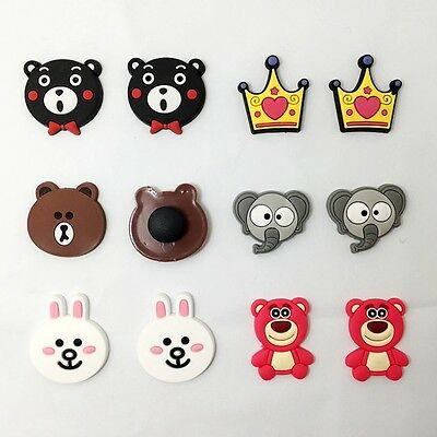 12pcs Lovely Bears Rabbit Shoe Charms Fit for Jibbitz Clog Wristbands kid's Gift