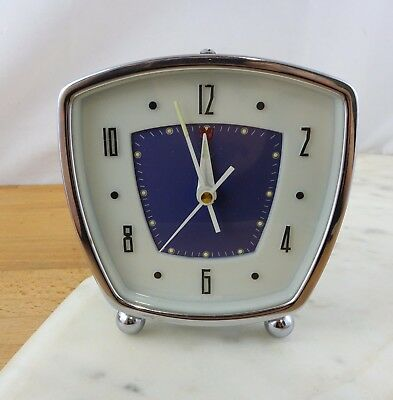Vintage Mid Century Atomic Style Wind Up Mechanical Alarm Clock