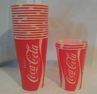 Vintage Coca Cola Assorted Lot of 18 NOS Wax Paper Cups-7 & 12oz-MINT Condition