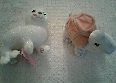Precious Moments Fun Club plush Baby Seal and Shelly Turtle