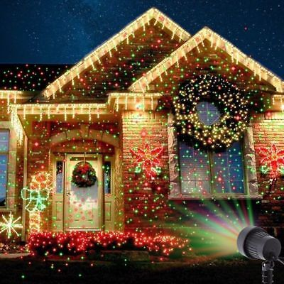 LED Laser Fairy Light Projection Projector IP65 Christmas Garden Outdoor Party