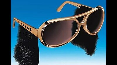 ONE PAIR OF ROLL SUN GLASSES WITH SIDEBURNS ELVIS SUNGLASSES Halloween Costumes