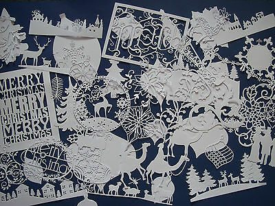 Large amount Christmas die cuts, Tattered Lace,Cheery Lynn, Memory Box & more