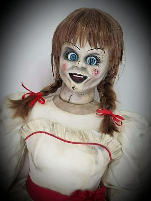 Annabelle Doll Conjuring Halloween Prop Replica (free Valak bust)