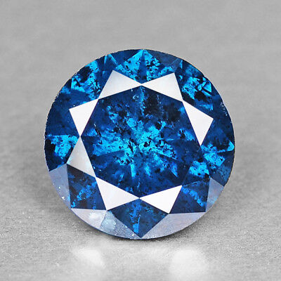 Vivid Blue Diamond Round 0.88 cts Loose Diamond Fancy Natural F718