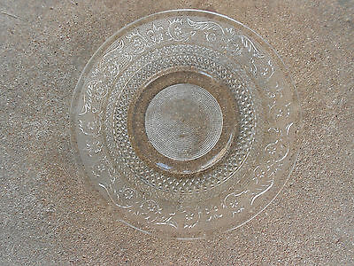 "Vintage SANDWICH GLASS  10"" Dinner Plate"