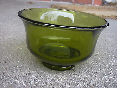 Vintage Indiana Glass Green Revere Salad Bowl    Carnival Glass 1970's