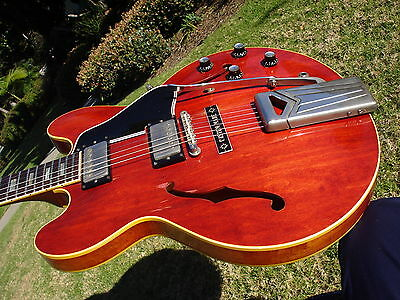 "1963 Gibson ES-335 Cherry ""Custom Made"" Plaque - Sideways Vibrato"
