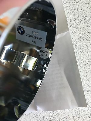 Genuine BMW Exhaust Tip sport End Chrome Metal 1/3 Series 8212210099 Clip On